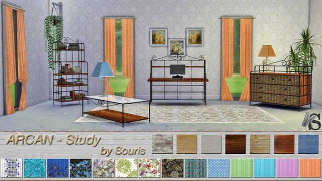 Sims 4 CC's - The Best: Arcan Study by Khany Sims