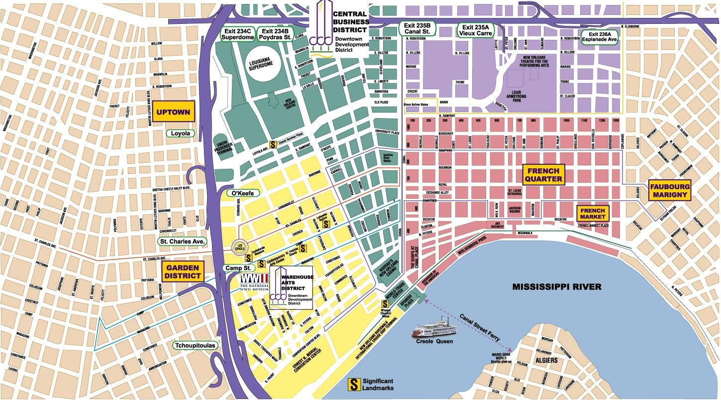 Travel New Orleans Weekend City And City Maps