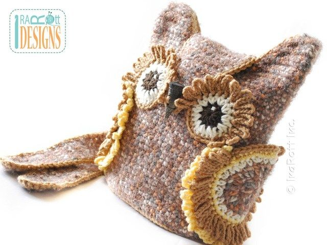 Pdf Crochet Pattern For Making A Beautiful Owl Bag Or Backpack Or