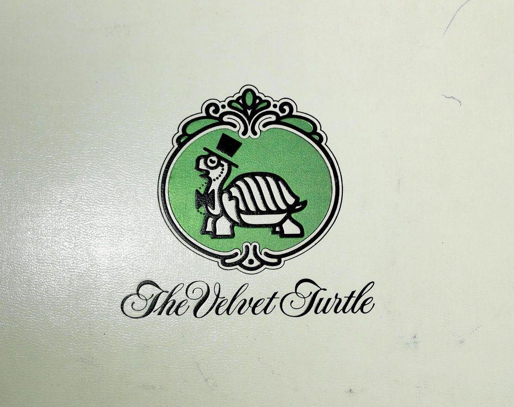 1978 Vintage Full Size Vinyl Dinner Menu Velvet Turtle Restaurants