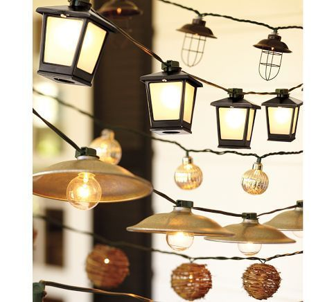 Cafe String Lights For Covered Deck  Pottery Barn