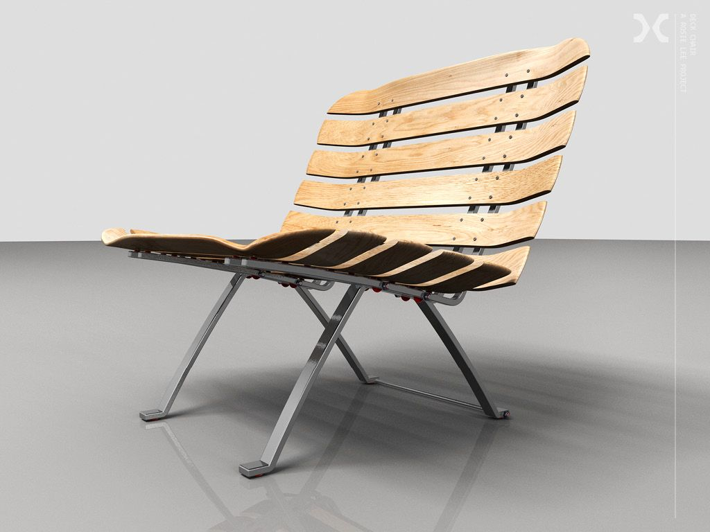 Our latest self initiated project deck chair skate for Skateboard chair plans