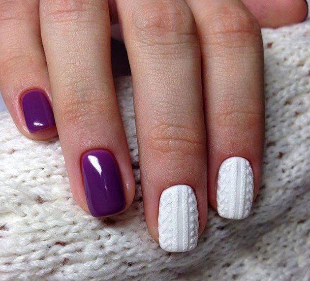 30 Amazing Rhinestone Nail Art Designs Ecstasycoffee: 30 Amazing Sweater/Knits Nail Art Ideas To This Season