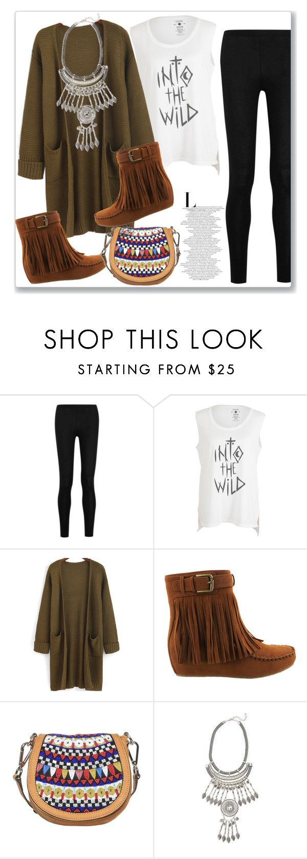 """""""Into the Wild...."""" by christinacastro830 ❤ liked on Polyvore featuring Donna Karan, Feather 4 Arrow, Donald J Pliner and Leith"""
