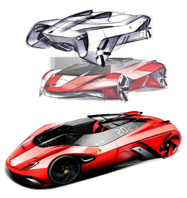 Ferrari World Design Contest Concept Draw Ferrari And Sketches