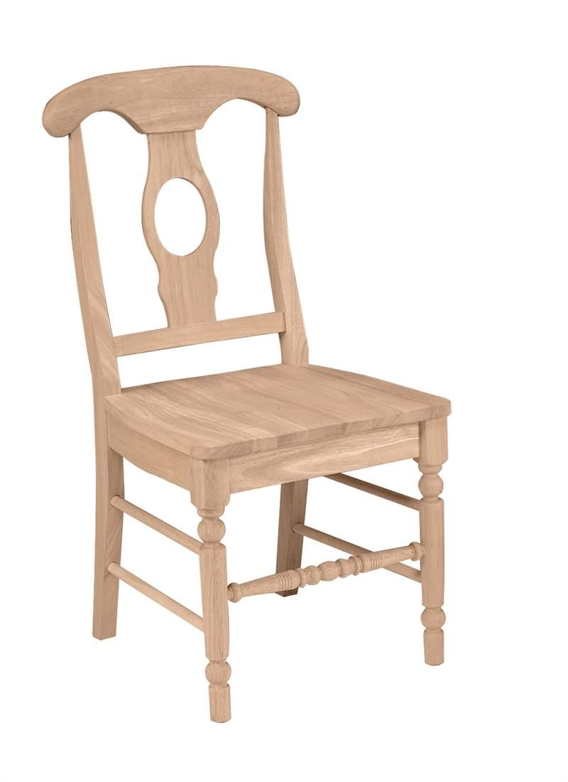 Bear Naked Unfinished Furniture ® Unfinished Dining Chairs
