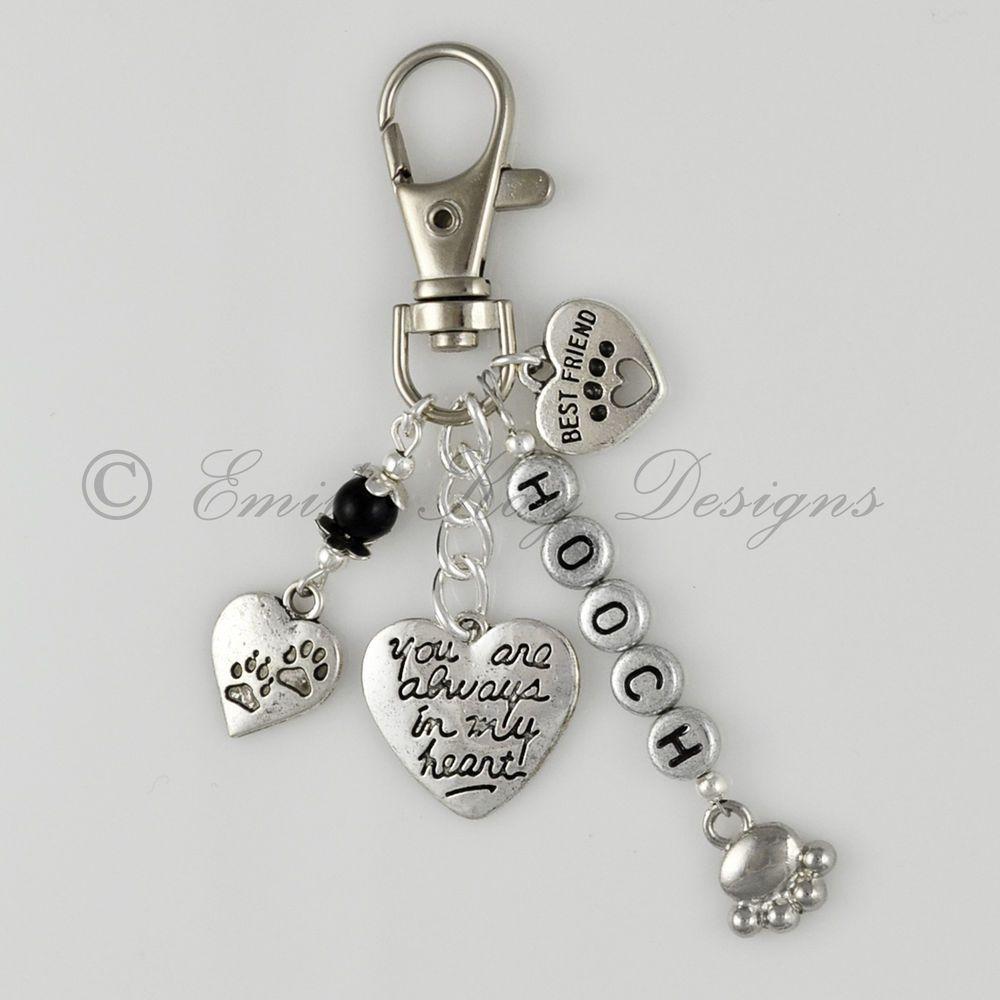 Pet Loss/Memorial Rainbow Bridge  Best Friend  Heart Personalised Key/Bag Charm
