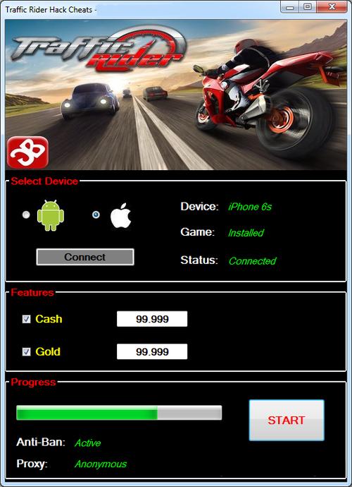 hack money traffic rider ios