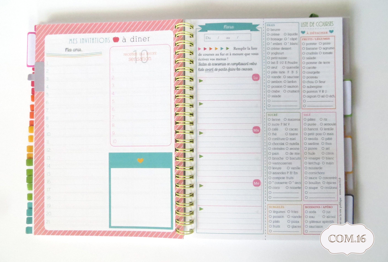 agenda organiseur de vie