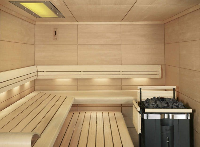 100 лучших идей: отделка бани внутри на фото   Парилка ...