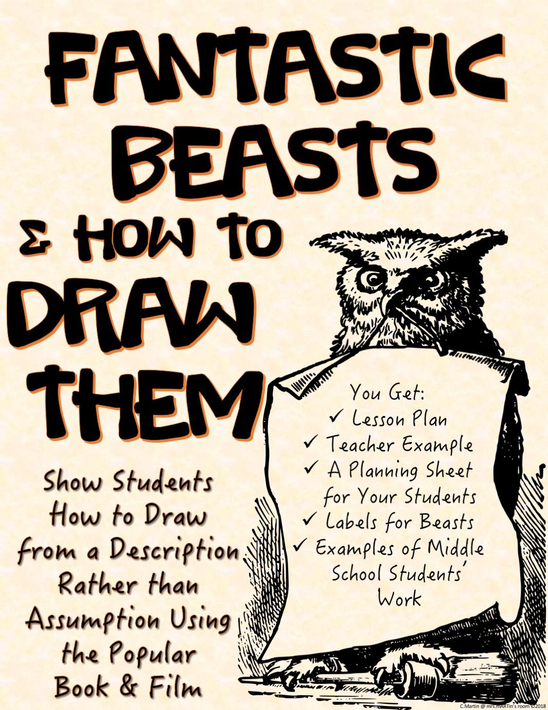 Art Lesson Plan For Fantastic Beasts And Where To Find