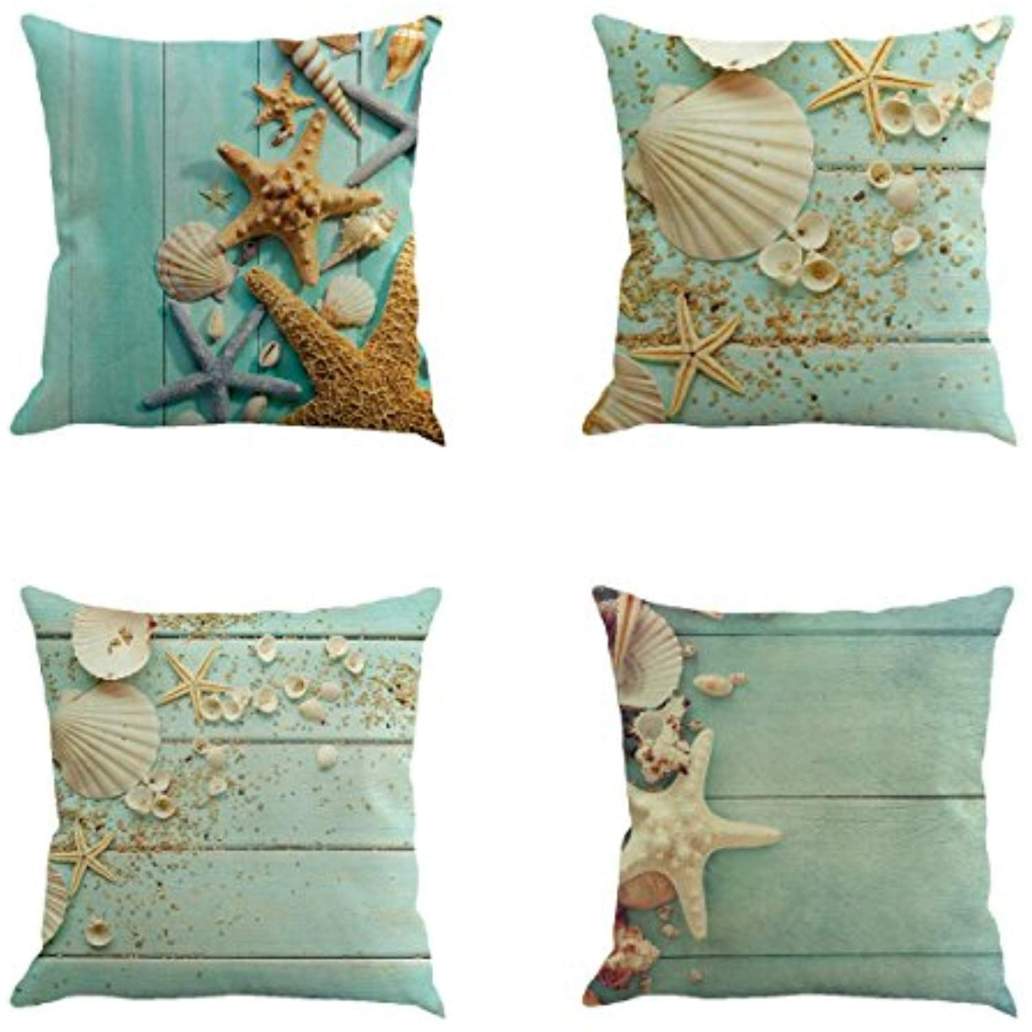 Nautical Sofa Throws Ysj Seashell Starfish Nautical Decor Throw Pillowcase Pillow Case
