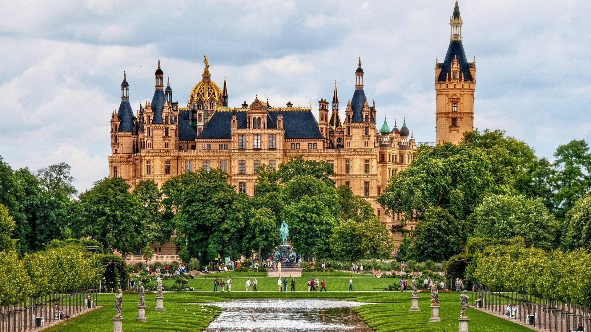 Schwerin Castle Germany Castles Travel 1080p Wallpaper Germany Castles Castles To Visit Beautiful Castles