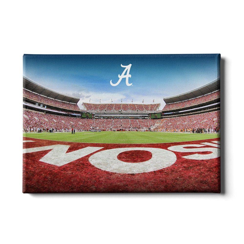 Bama End Zone Alabama Crimson Tide Alabama Football Etsy College Wall Art Alabama Crimson Tide Football Football Wall Art