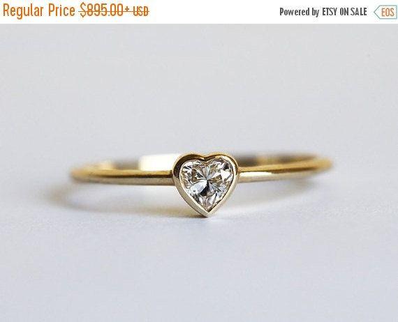 Black Friday 15 Di Heart Diamond Ring Por Minimalvs