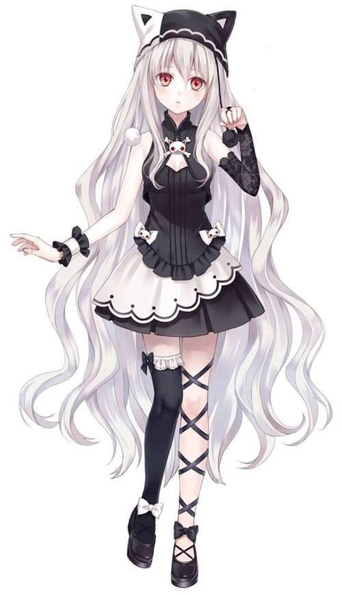 Znalezione Obrazy Dla Zapytania Anime Girl Full Body Anime Girl Neko Gothic Anime Girl