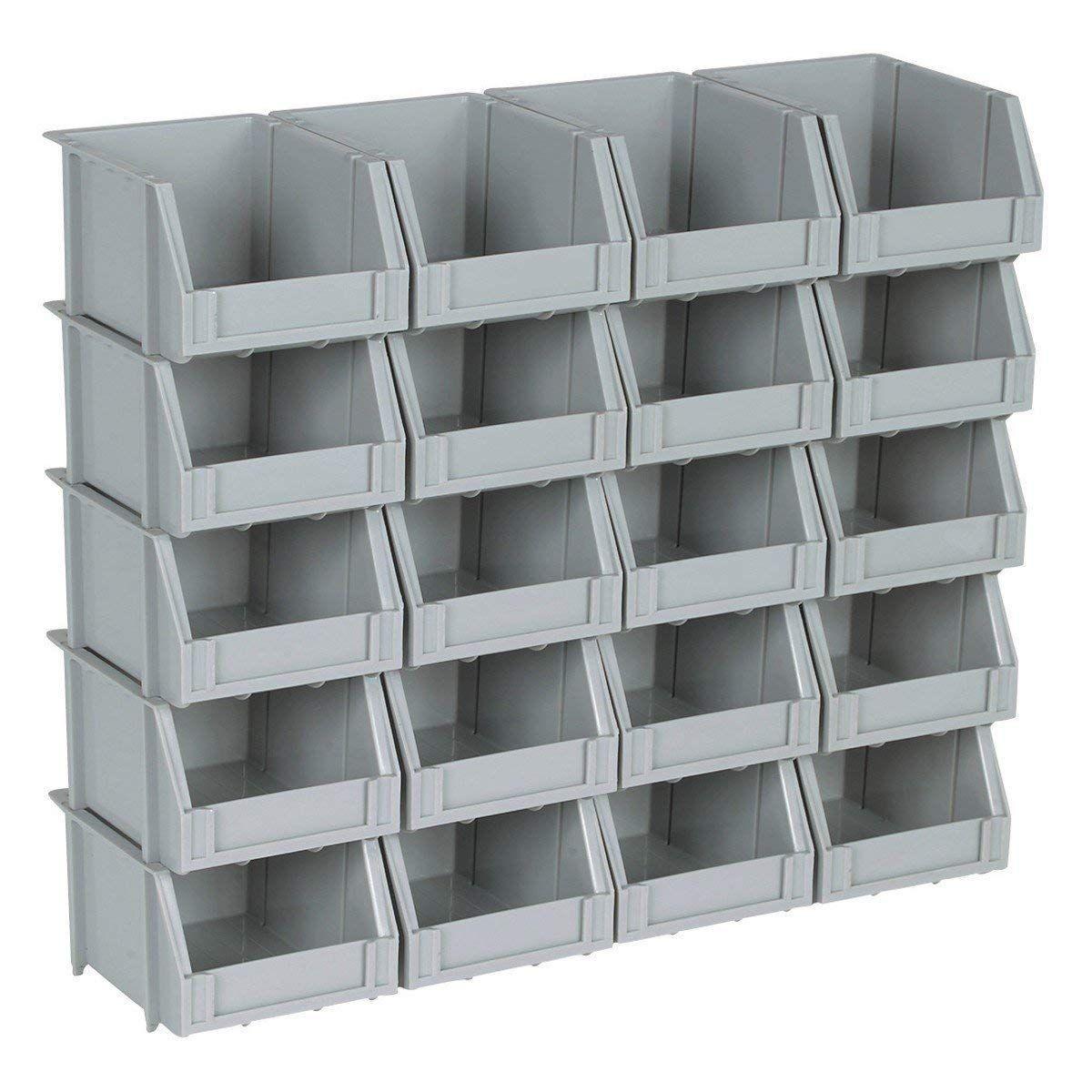 Mic4hft Poly Bins Storage System Amazon In Home Kitchen Stackable Storage Bins Storage Bins Storage Bin Racks