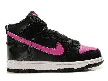 quality design 7307b ac319 High Tops for Girls  Black Pink Nike Dunks High For Women  Nike High Tops  For Women Shoes .