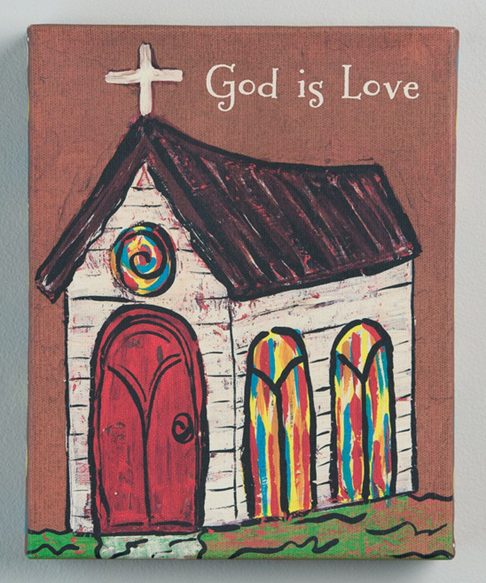 Another great find on #zulily! 'God is Love' Wrapped Canvas by Glory Haus #zulilyfinds