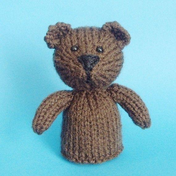 Bear Toy Knitting Pattern (PDF) #beartoy