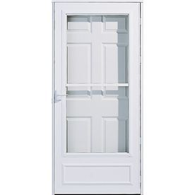 Pella White Mid View Safety Storm Door Common 81 In X 36