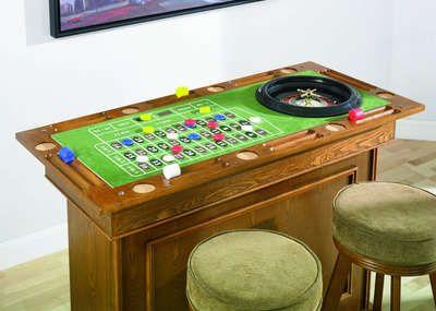 Home Casino Bar Stools Poker Roulette Craps Table Set Roulette