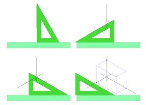 Colocación De La Escuadra Y Cartabón Isométrica Técnicas De Desenho Geometria Descritiva Referência De Desenho