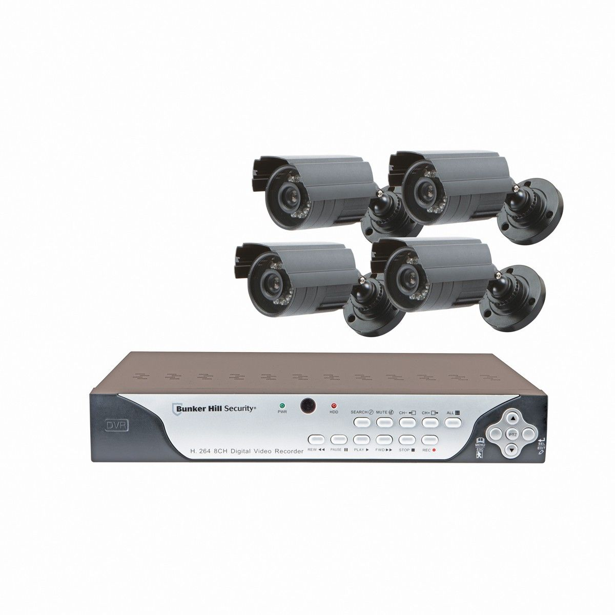 Bunker Hill Security 61229 8 Channel Surveillance Dvr With 4 Cameras And Mobile Monitoring Capabilities Surveillance Camera Installation