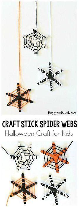 Spider Web Halloween Craft for Kids   Halloween, Herbst und Kinder ...