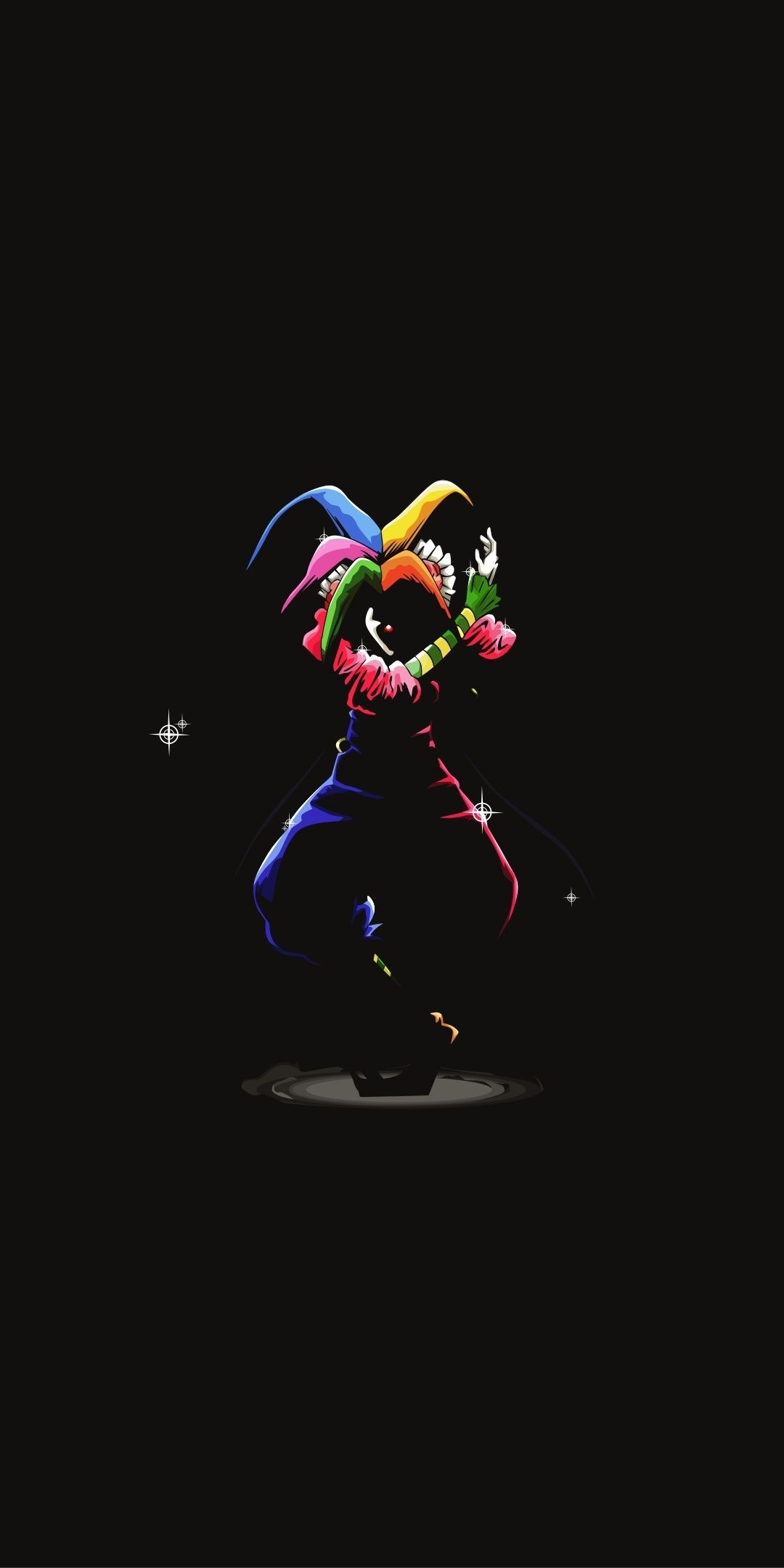 Joker Clown Artwork Karakuri Circus Minimal 1080x2160
