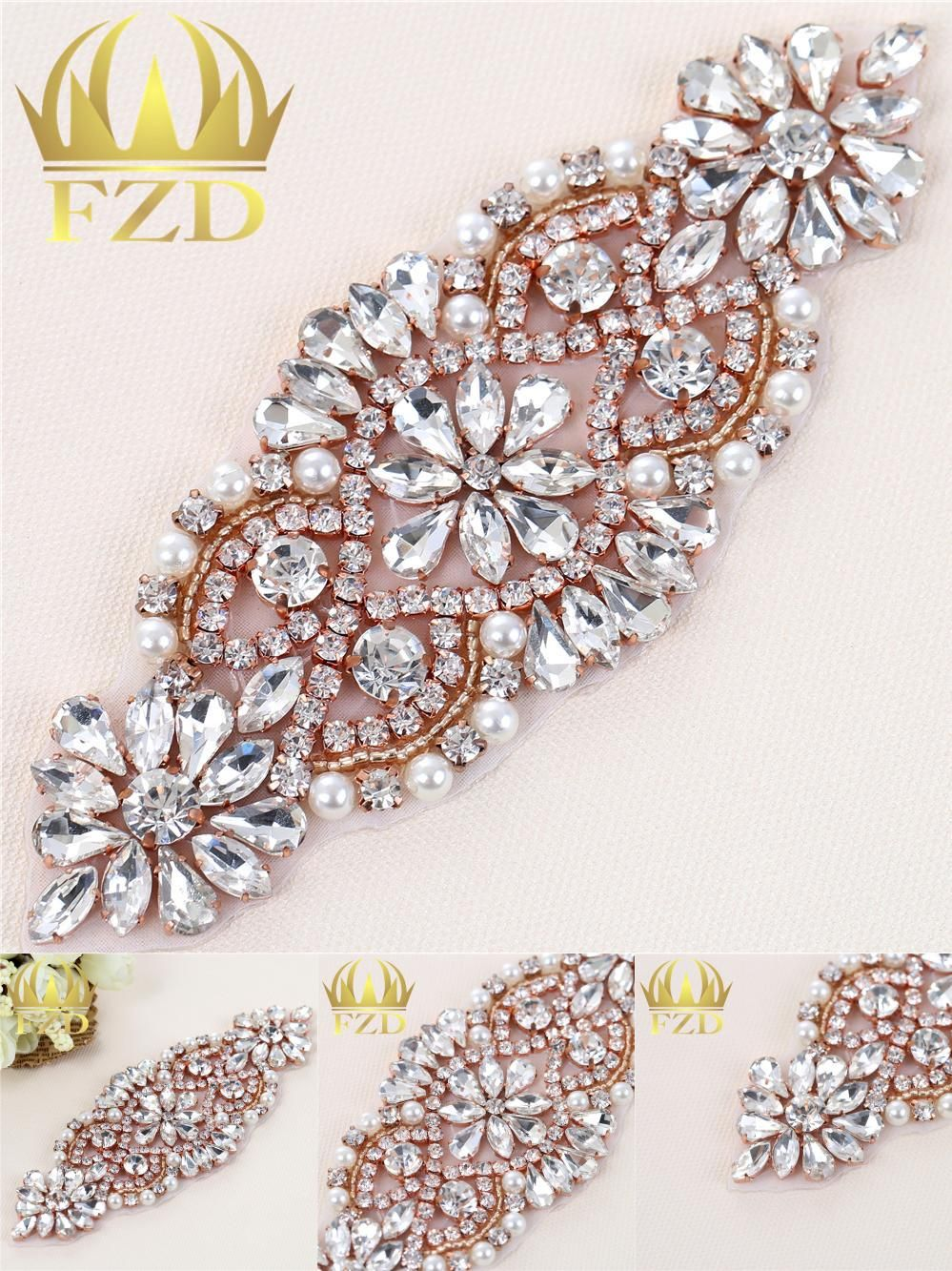 Visit to Buy  (1piece)Handmade Hot Fix Sew On Beaded Stones and ... 7967f8826e18