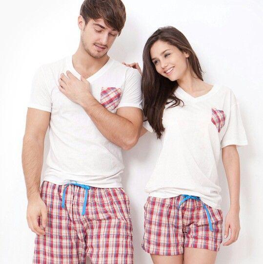 28fcd22ce9 Cute couple pajamas | Love it ^_^ | Matching christmas pajamas ...