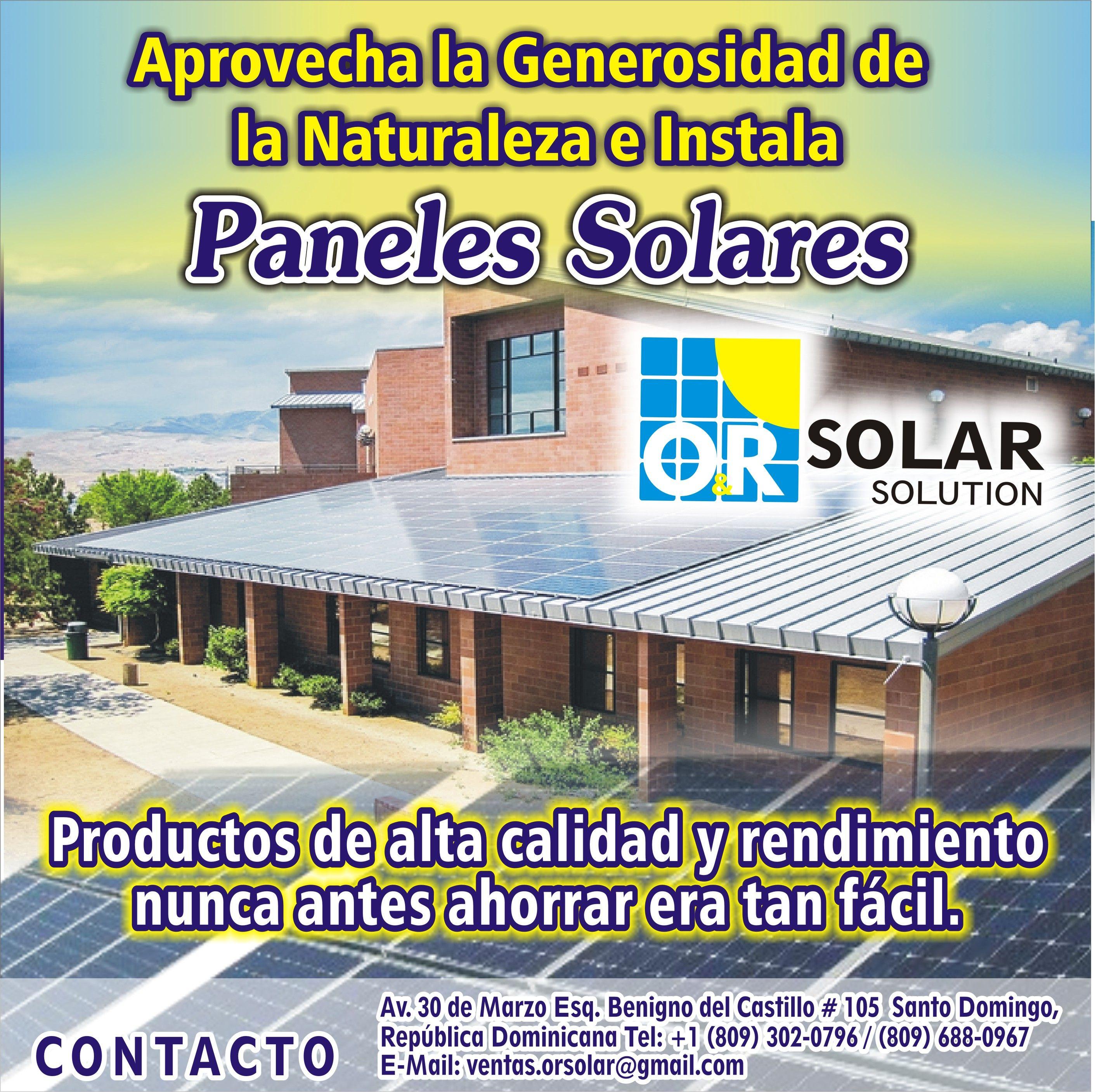 Flyer Para Orsolar Solution Empresa Dedicada A La Venta De Paneles Solares Ubicada En Republica Dominicana Si Deseas Realizar Paneles Solares Panel Castillos