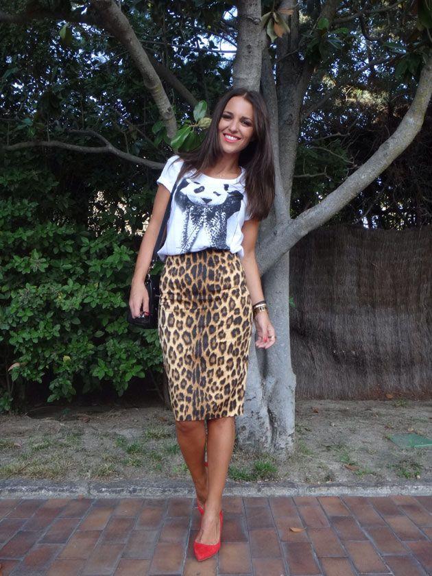 df2d17c32 Paula Echevarria | Spring//Summer fashion | Falda de animal print ...