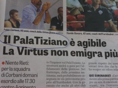 VISTO DAL basso    : EDICOLA Il Palazzetto è ok, la Gazzetta ancora no....