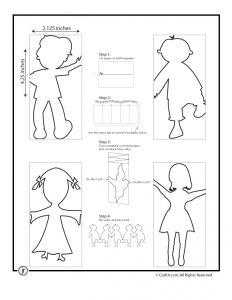 Paper Chain People Templates Guirlande Papier Jeux De Papier Guirlande