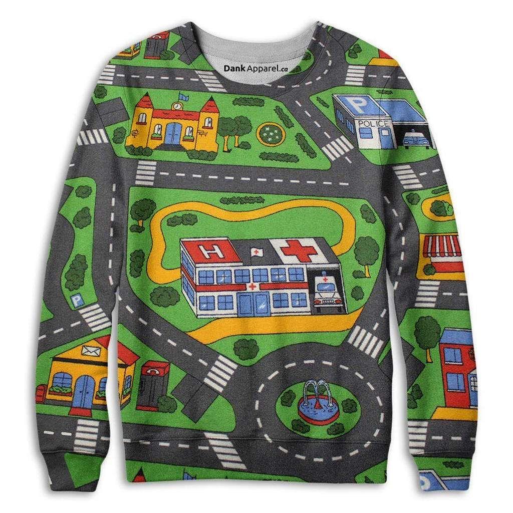 Toy Car Carpet Track Sweatshirt In 2018 Elegant Punk Pinterest