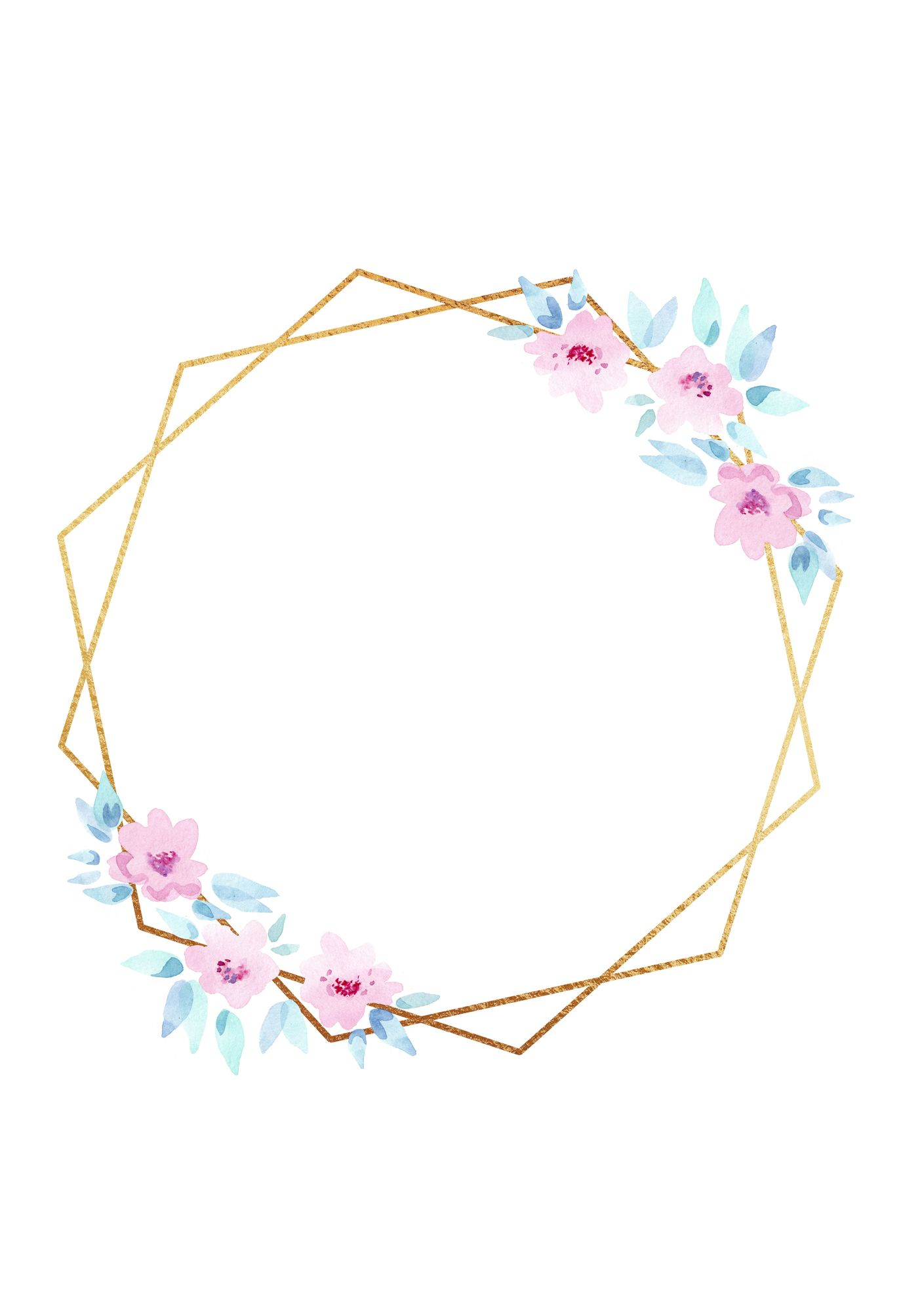 Gold Polygonal Floral Frames Clipart Crystal Frames Png For Etsy Hand Embroidery Patterns Flowers Hand Embroidery Kit Hand Tattoos For Girls