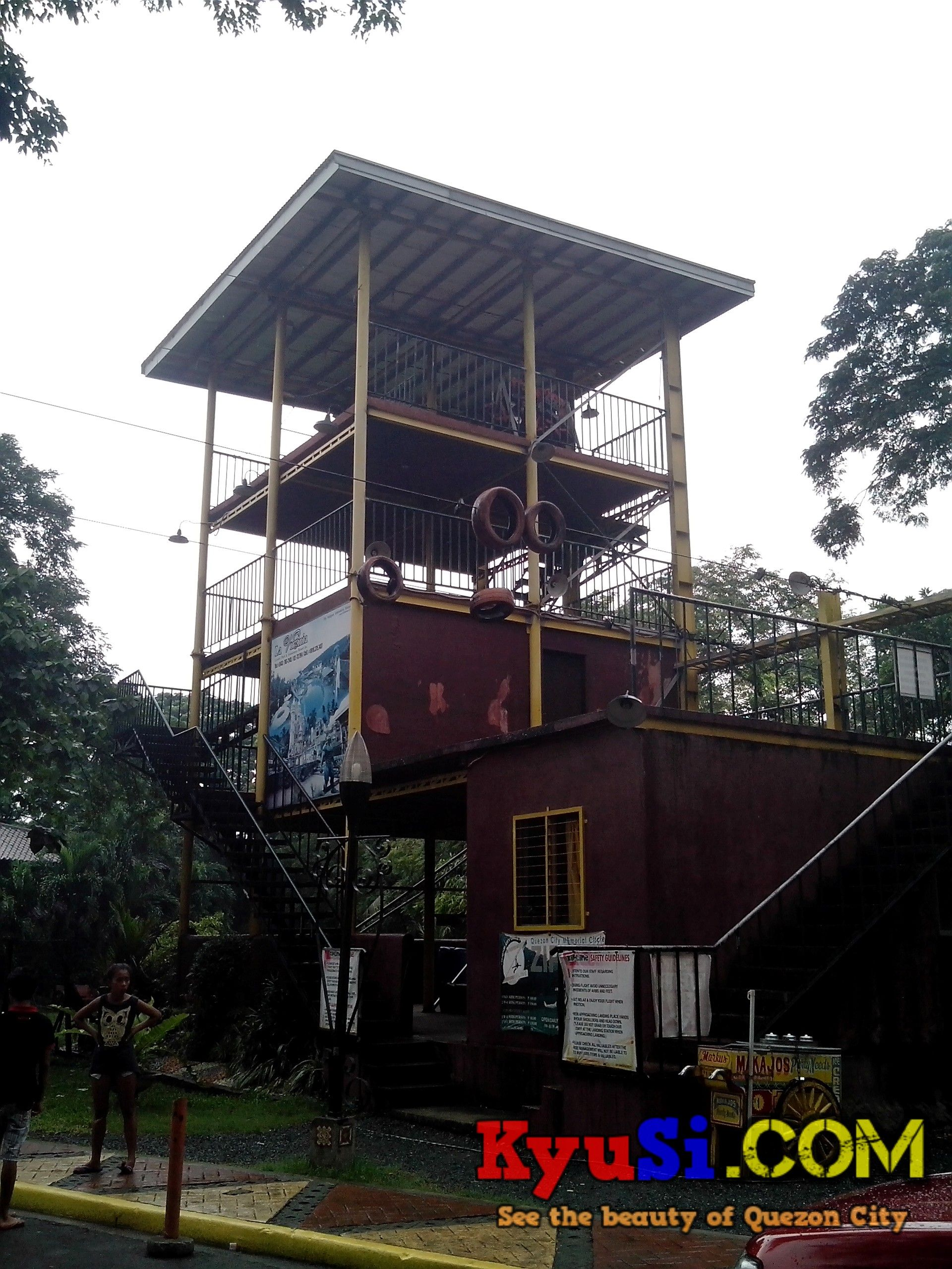 QC Memorial Circle Zipline other side Photo 2 Quezon