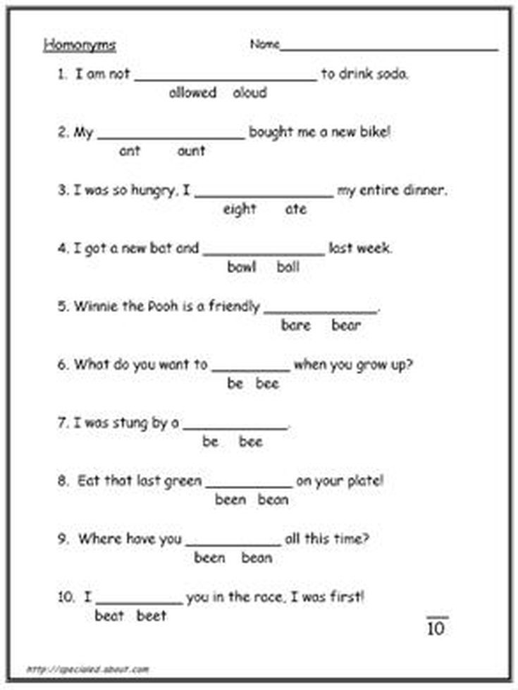 What Is the Difference Between Homonyms and Homophones? | Pinterest