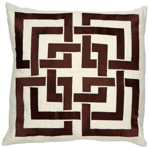 Trina Turk Chocolate Shanghai Links Embroidered #Pillow #brown