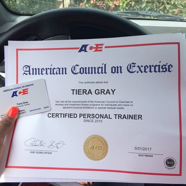 Tiera Gray Has Joined The Ranks Of Ace Certified Personal Trainers