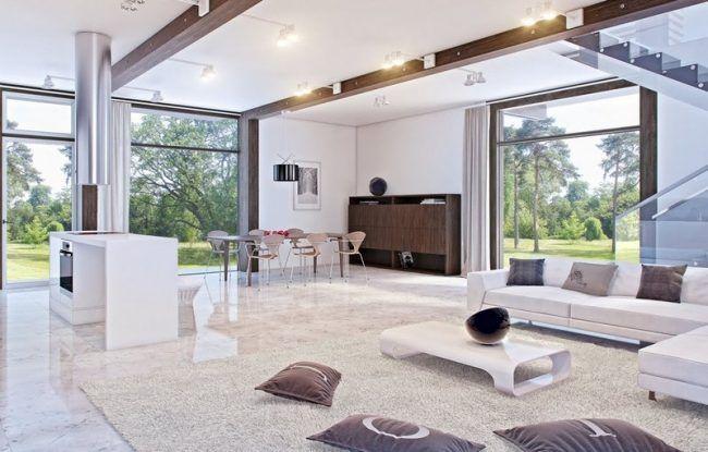 Marmorboden-Marmorfliesen-modern-Wohnzimmer-einrichten Fussboden - marmorboden wohnzimmer
