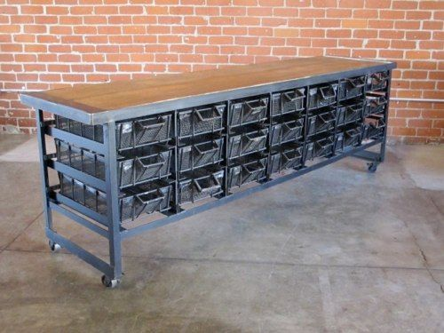 industrial furniture vintage. vintage industrial storage and tables from cleveland art furniture