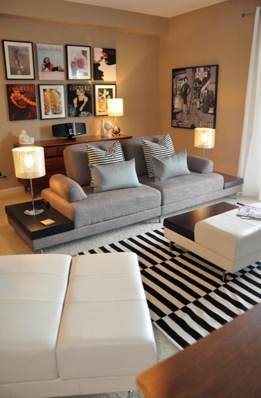 Living Room Condo Decorating: Danielle Oakey Interiors: Online Design: Coxford Condo