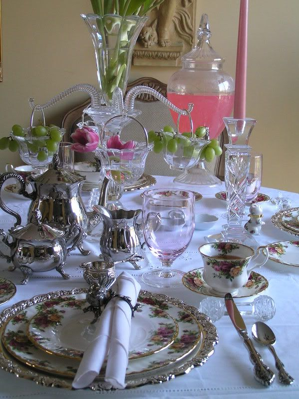 Beautiful setting for Tea Time