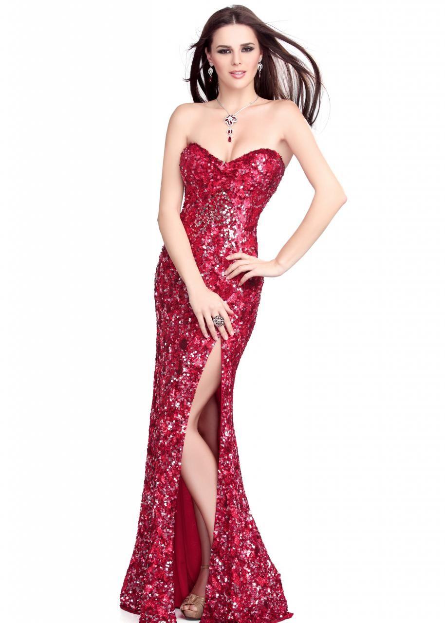 8bdf73837d Long Red Sequin Dress