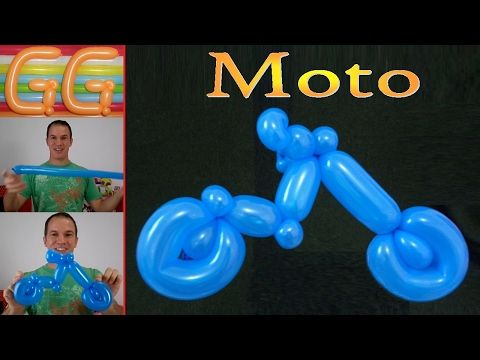 como hacer una moto con globos - globoflexia facil - motocicleta