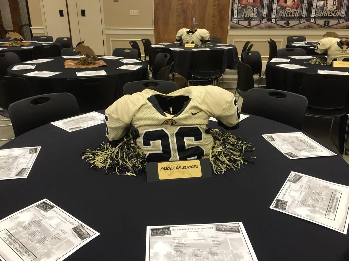 Football banquet centerpieces Football banquet, Senior