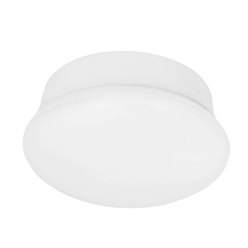 New 7 Round Led Flush Mount Ceiling Light 4000k Kitchen: Commercial Electric Spin Light 7 In. White LED Flush Mount